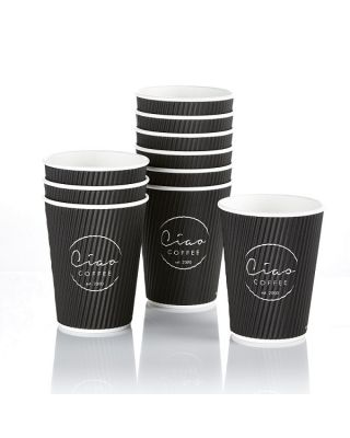 Ciao Takeaway Ripple Coffee Cups 500 x 12oz