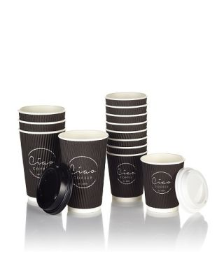 Ciao Takeaway Ripple Coffee Cups 500 x 16oz