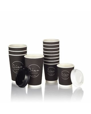 Ciao Takeaway Ripple Coffee Cups 500 x 8oz
