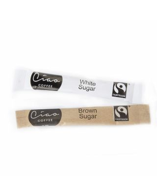 Ciao Fair Trade White Sugar Sticks 1000